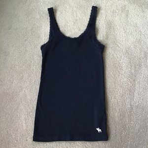 Abercrombie Kids Navy Blue Lace Stretch Tank Top M